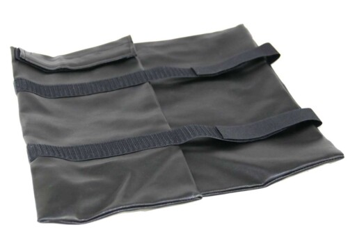 Faux leather cover for therapy gaiters